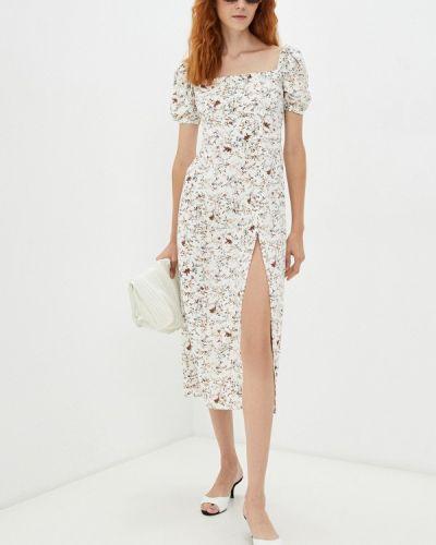 Бежевое прямое платье Elena Andriadi