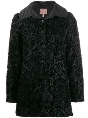 Клубная черная длинная куртка Romeo Gigli Pre-owned