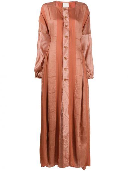 Облегающее шелковое красное платье макси Phaedo Studios