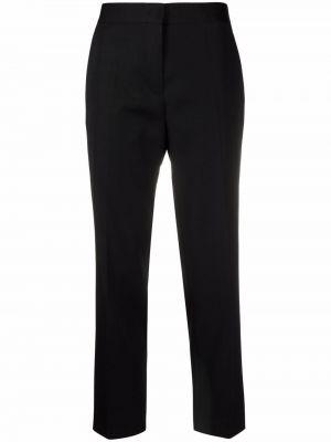 Шерстяные черные брюки с карманами Jil Sander