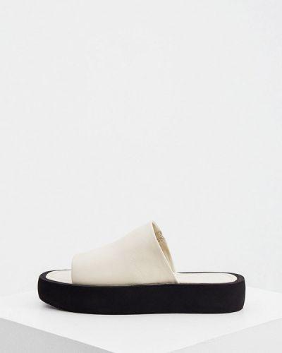 Кожаные сабо - белые By Malene Birger