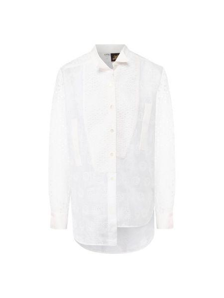Рубашка белая с вышивкой Loewe