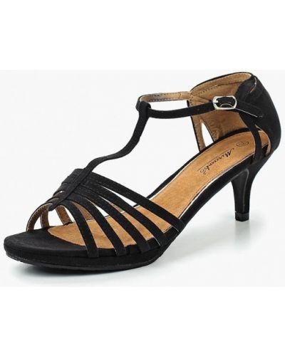 Черные босоножки на каблуке Mirambo