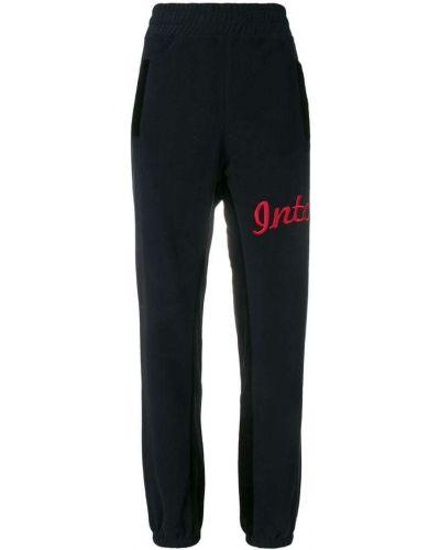 Черные спортивные брюки с поясом с манжетами Intoxicated