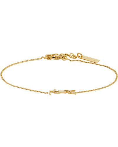 Золотой браслет золотой Saint Laurent