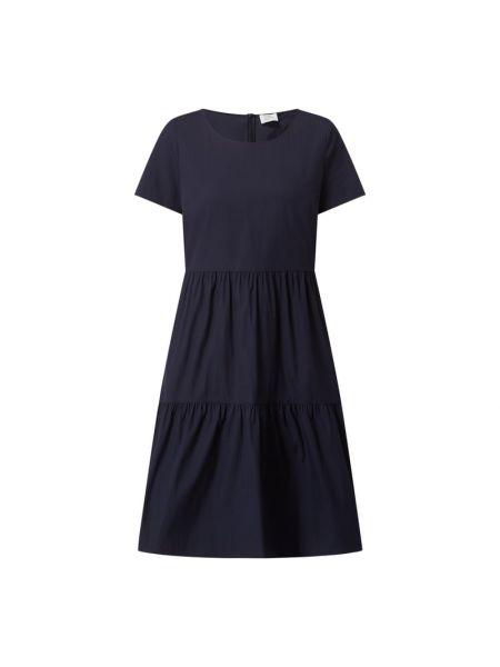 Sukienka rozkloszowana krótki rękaw - niebieska Robe Légère