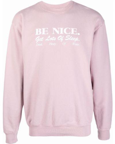 Różowa bluza z nadrukiem z printem Sporty And Rich