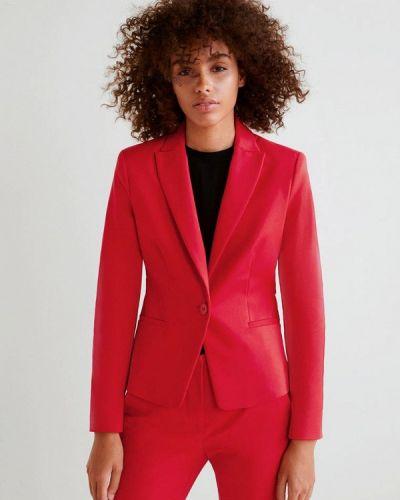 Красный пиджак осенний Mango
