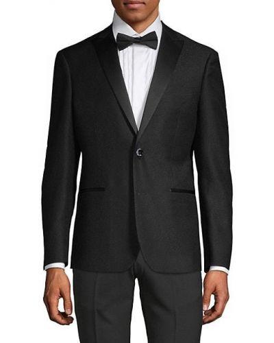 Czarna długa kurtka z długimi rękawami Nhp