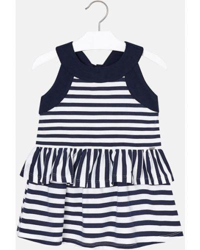 Платье хлопковое синий Mayoral