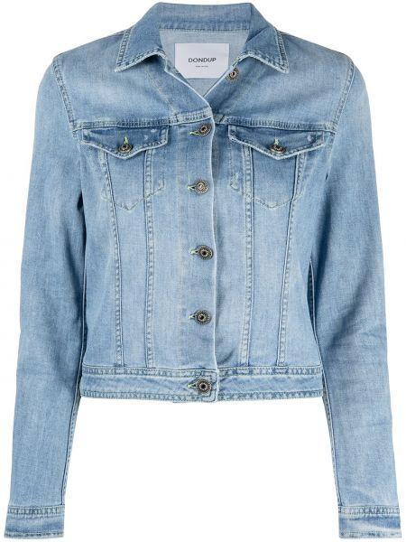 С рукавами ватная синяя джинсовая куртка Dondup