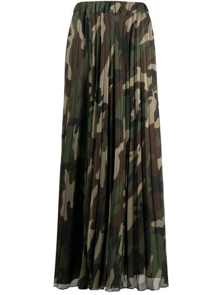Плиссированная юбка макси камуфляжная P.a.r.o.s.h.