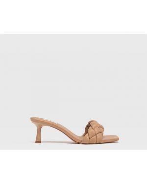 Туфли на каблуке плетеные Stradivarius