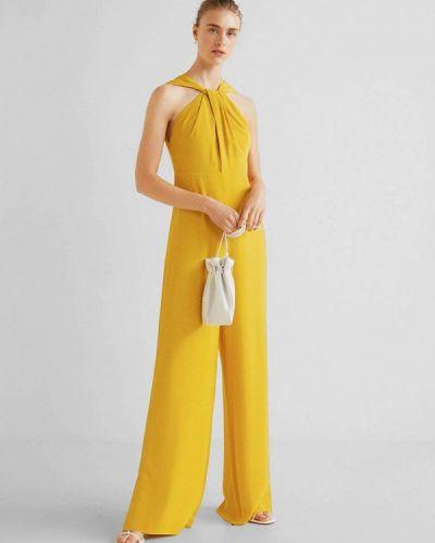 Брючный комбинезон желтый Mango