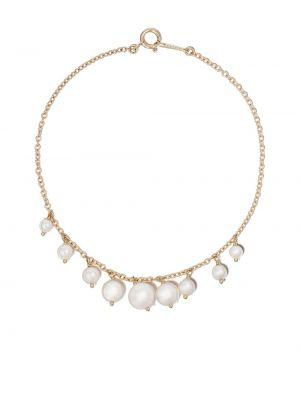 Żółta złota bransoletka ze złota perły Mizuki