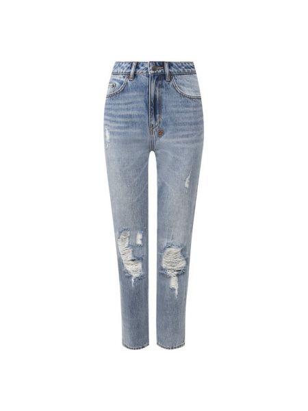 Укороченные джинсы - синие Ksubi