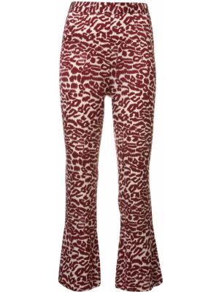 Красные укороченные брюки с поясом Piamita