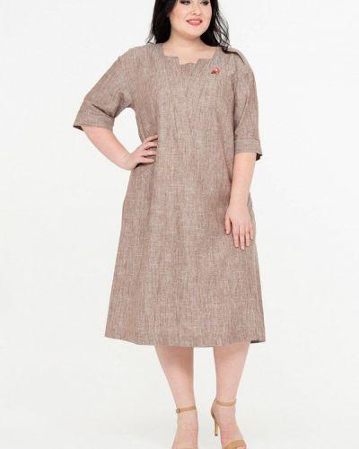 Повседневное платье весеннее бежевое Intikoma