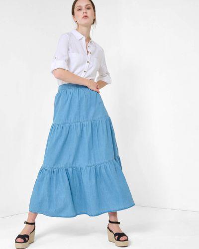 Niebieska spódnica maxi bawełniana Orsay