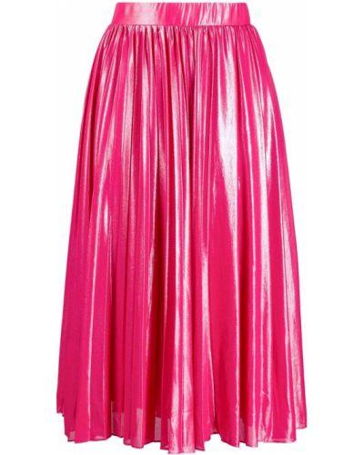 Плиссированная юбка на резинке розовая Pinko