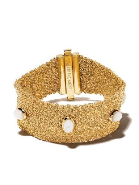 Желтый золотой браслет с жемчугом Carolina Bucci