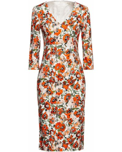 Платье миди с принтом - оранжевое Goat