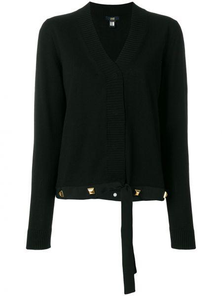 Шелковый черный кардиган Cavalli Class