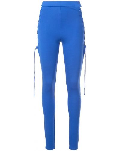 Леггинсы на шнуровке - синие Fenty X Puma