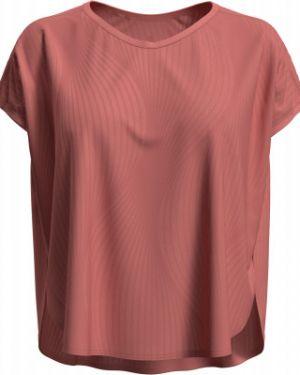 Розовая свободная спортивная футболка для йоги свободного кроя Odlo