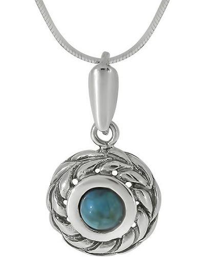 Серое ожерелье с подвесками Den'o