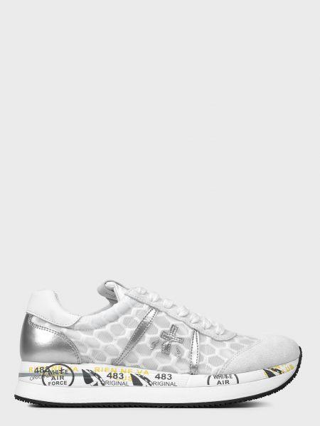 Повседневные кожаные белые кроссовки Premiata