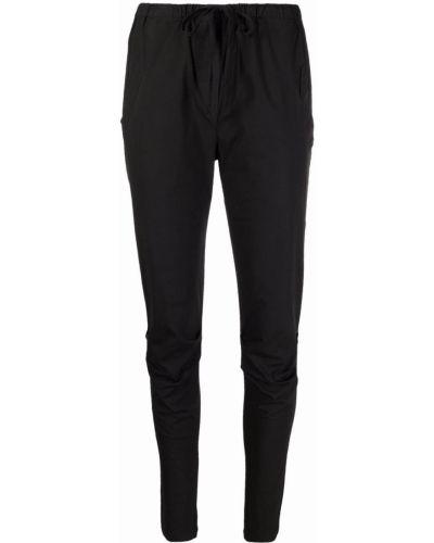 Хлопковые черные укороченные брюки стрейч Kristensen Du Nord