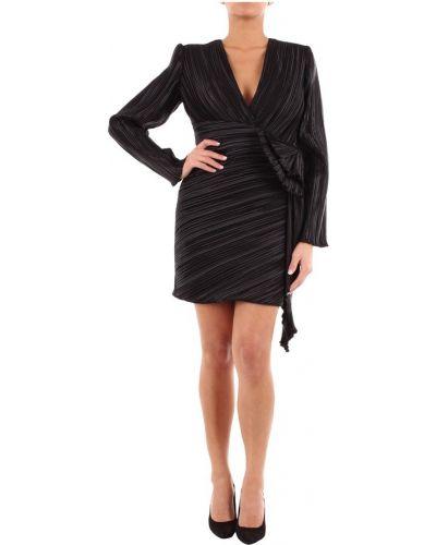 Czarna sukienka mini z długimi rękawami na co dzień Givenchy