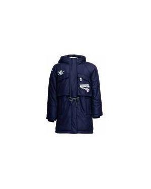 Пальто синее свободного кроя Button Blue