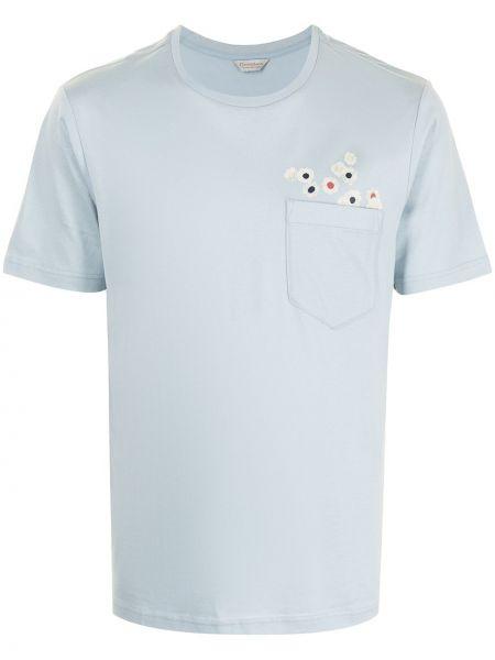 Niebieska T-shirt z nadrukiem bawełniana Gieves & Hawkes