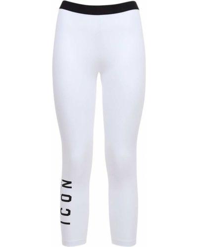 Biały legginsy elastyczny Dsquared2