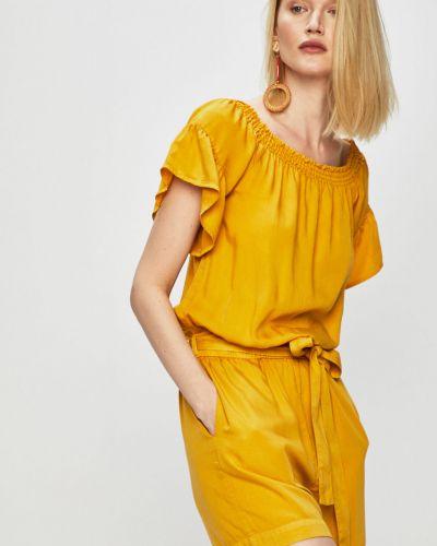 Żółty kombinezon krótki z falbanami materiałowy Medicine
