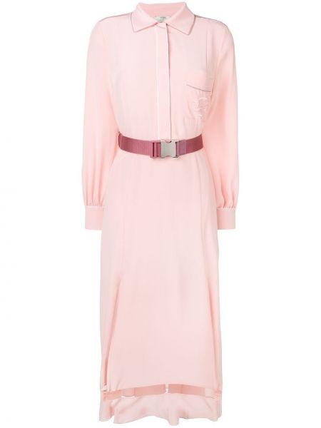 Облегающее платье розовое классическое Fendi