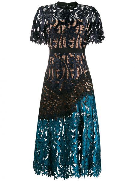 Платье мини миди с поясом Self-portrait