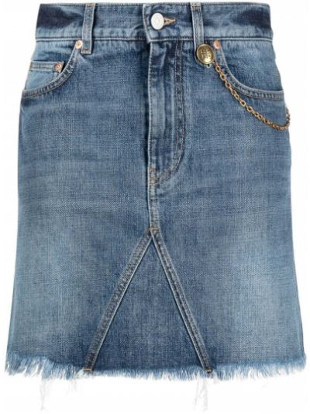 Niebieski z wysokim stanem dżinsowa spódnica z kieszeniami Givenchy