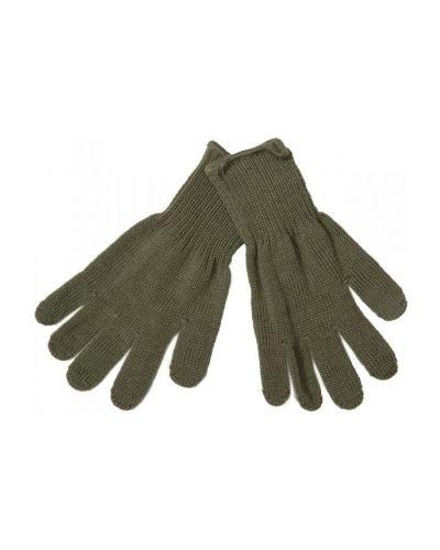 Кожаные перчатки шерстяные теплые Kivat