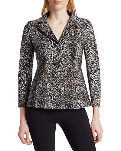 Приталенный удлиненный пиджак с отворотом с длинными рукавами Chiara Boni La Petite Robe