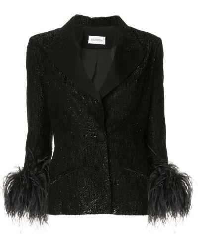 Черный приталенный классический пиджак с карманами 16arlington