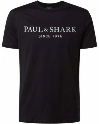 Czarna koszulka bawełniana Paul & Shark