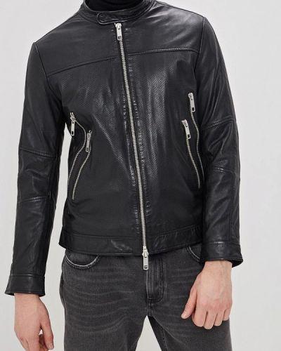Кожаная куртка черная индийский Antony Morato