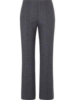 Шерстяные брюки - серые Fendi
