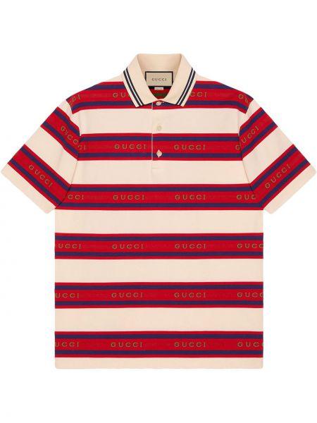 Koszula w paski w paski - beżowa Gucci