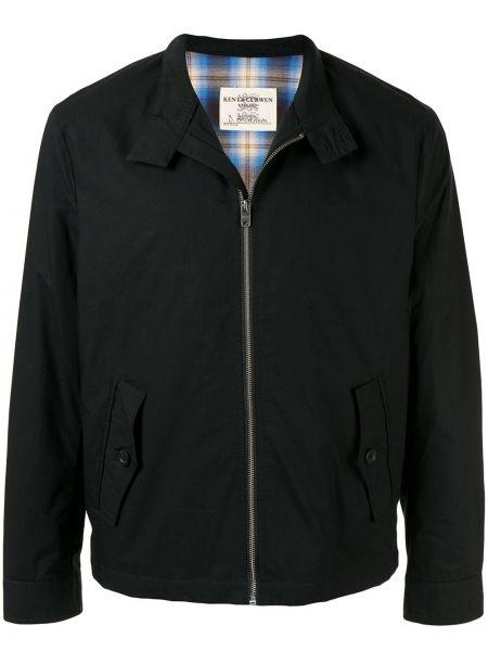 Czarna długa kurtka bawełniana z długimi rękawami Kent & Curwen
