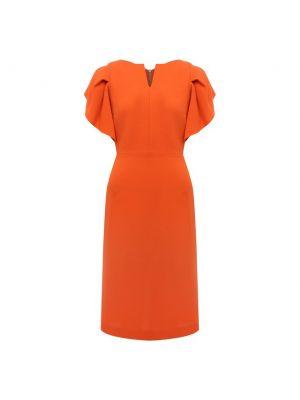 Шелковое платье - оранжевое Roland Mouret