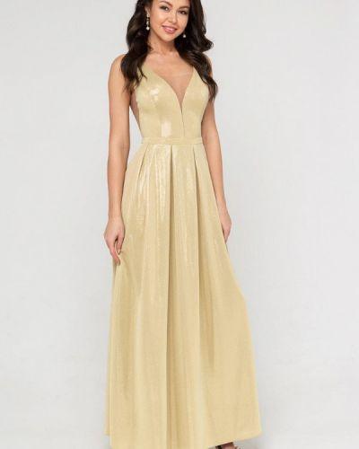 Вечернее платье золотой Eva